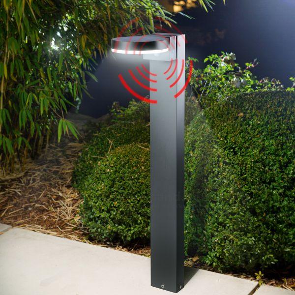 Solar Pollerleuchte Diana 80cm mit Bewegungssensor