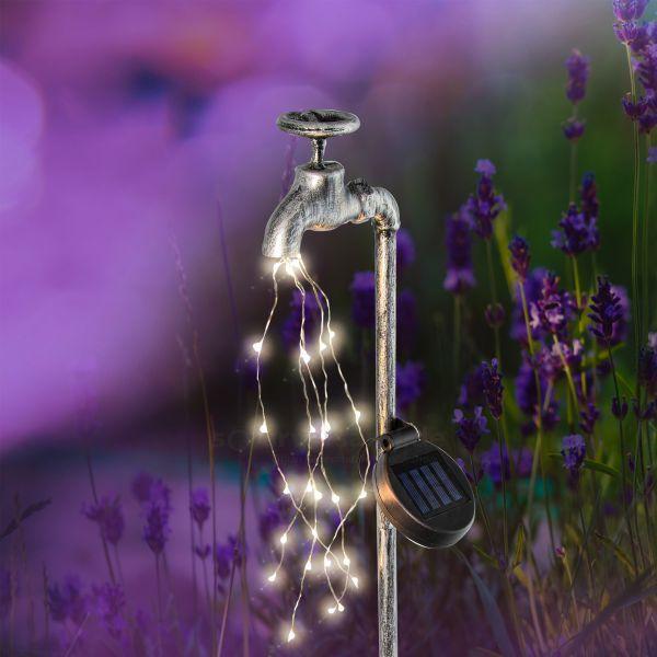Solar Deko Wasserhahn mit Lichterbündel