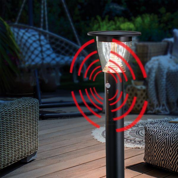 Solar Wegelampe Pesaro 95 cm mit Sensor
