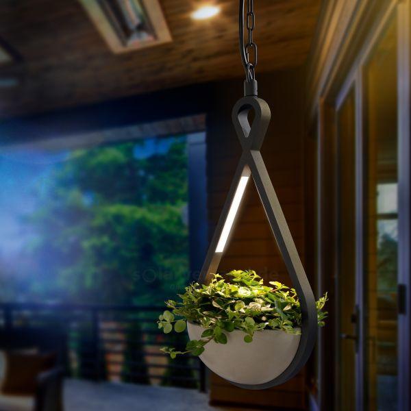 LED Hängeleuchte FlowerLine mit Pflanzschale
