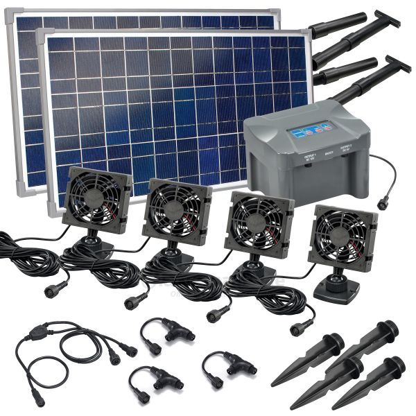 Solar Lüfterset FreshAir 50W quattro plus