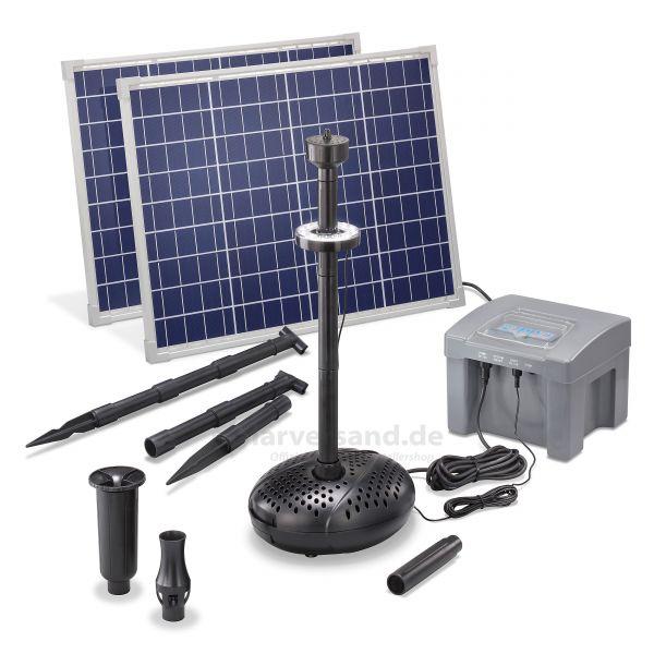 Solar Teichpumpenset 100/2600 LED Professional proBatt