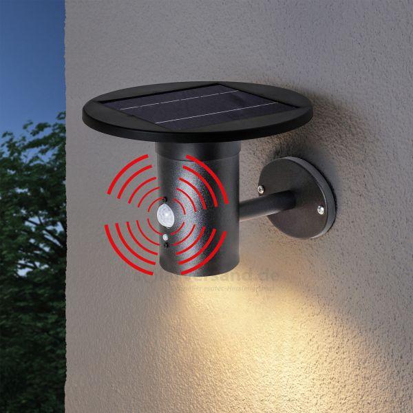 Solar Wandleuchte Bologna mit PIR-Sensor