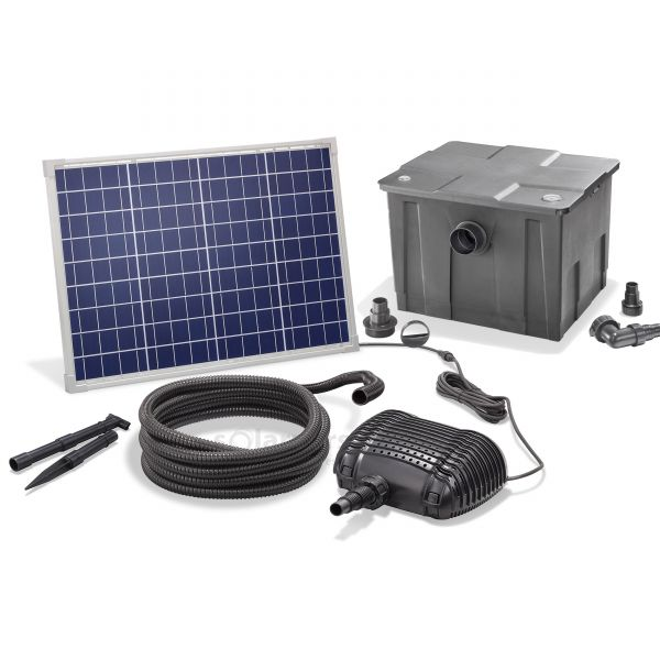 Solar Teichfilter Set Premium 2500/50
