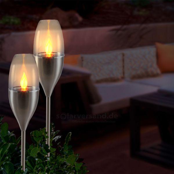 Dekorative Solarfackel Luanda im 2er-Set